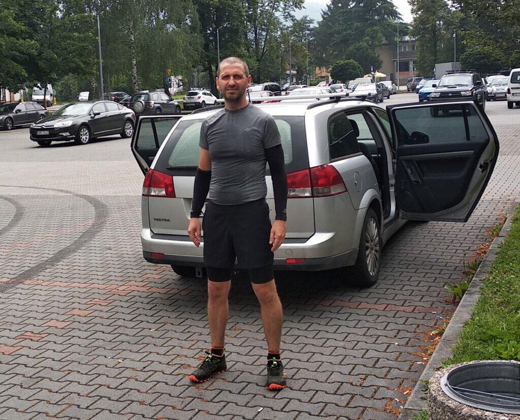 Paweł Krzyworączka po treningu