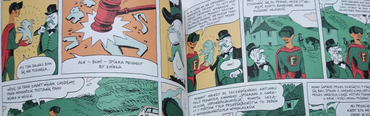 Książka graficzna powieść komiks