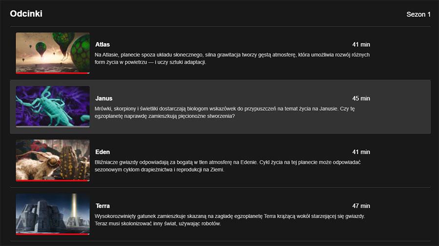 Obce światy - Netflix serial - odcinki