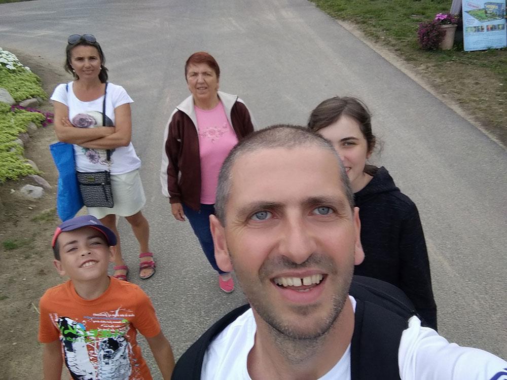 Paweł Krzyworączka z rodziną