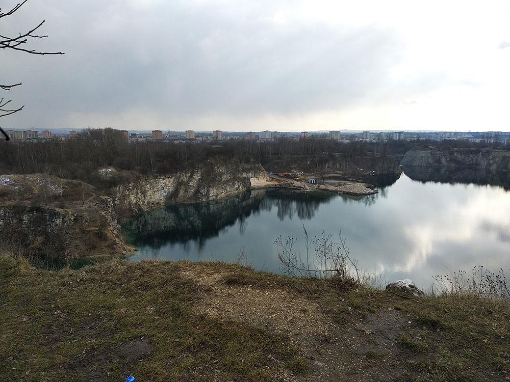 Ściana wapienna - Zakrzówek