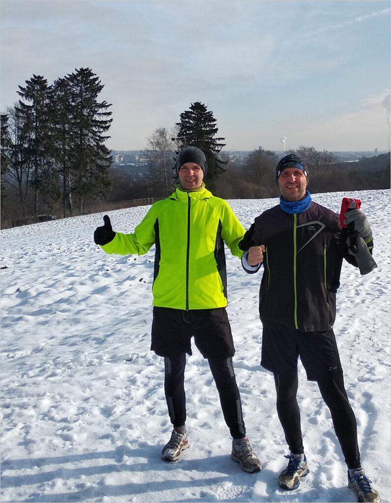 Udany trening biegowy w Lasku Wlskim