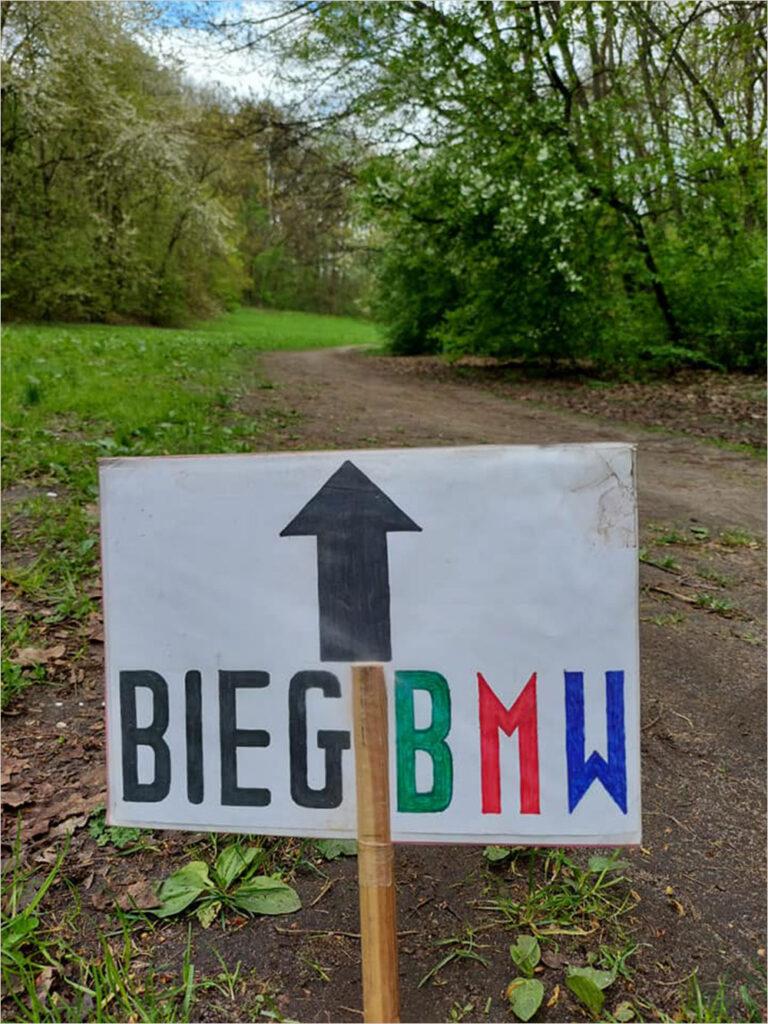 Oznaczenie trasy BMW