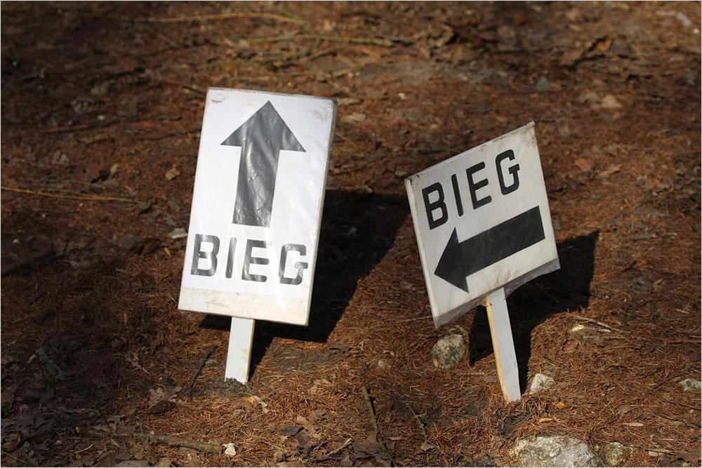Oznakowanie trasy biegu