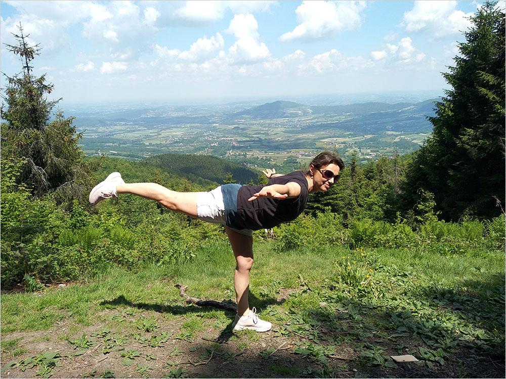 Małgorzata Krzyworączka w górach